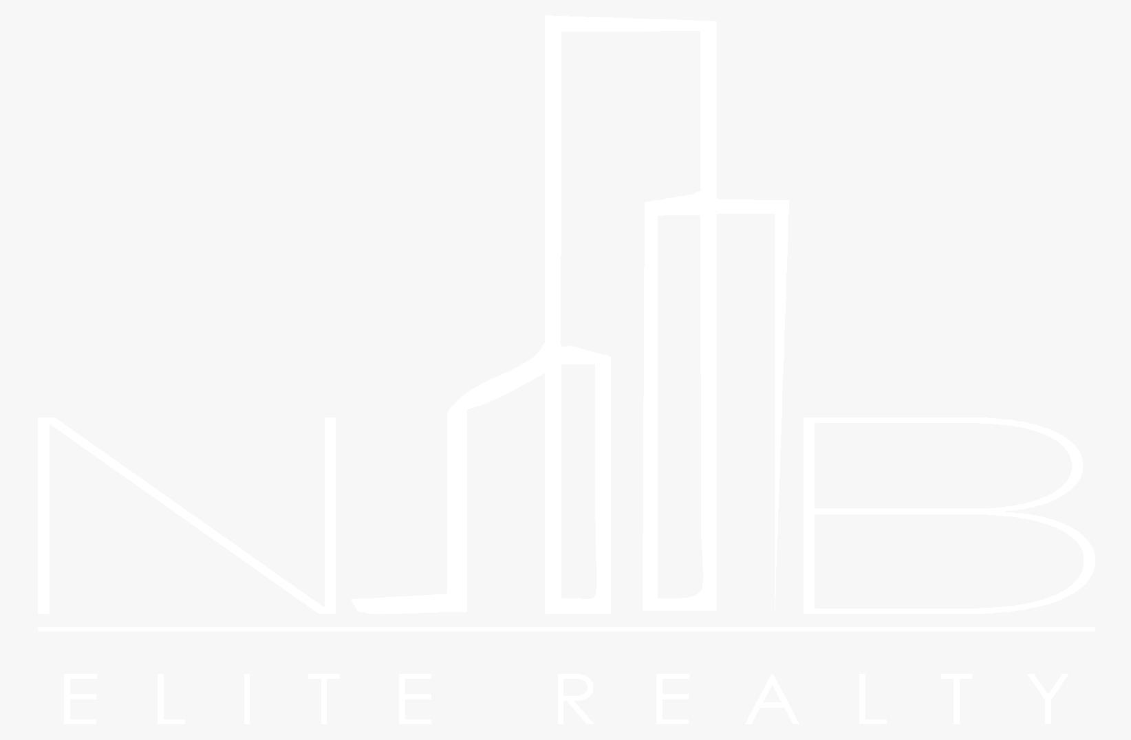 white nb elite realty logo